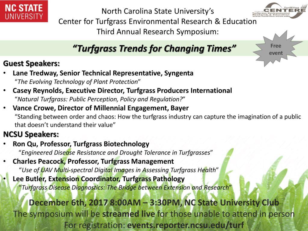 Turfgrass Symposium flyer